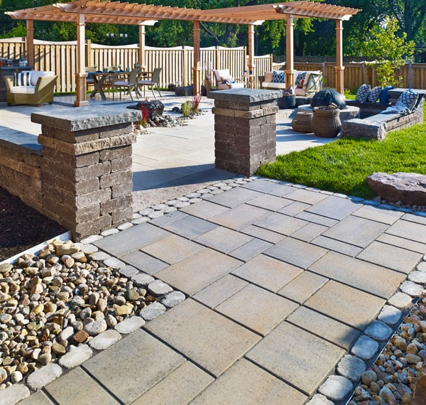 What is the difference between Tiling, Paving and Cladding 7 pavers patio stone walkways polished pool garden style