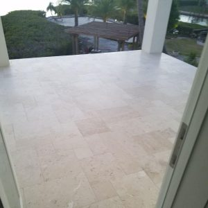 Shell Beige 48 French Pattern Shell Beige Tile Balcony Project Pic