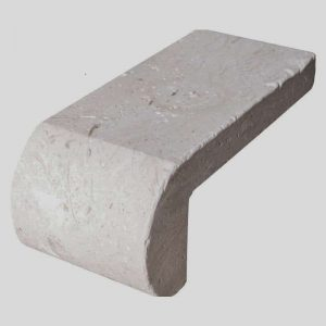 Shell Beige 54 4x9 shell beige tumbled remodel pool coping product pic