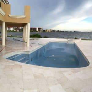 Home 25 Shell Beige 12x24 Limestone Seaside Project Picture