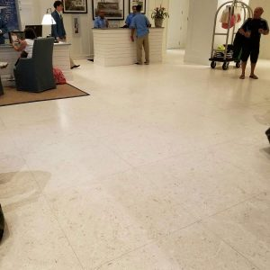 Home 27 Shell Beige 16x16 Tile Hotel Reception Limestone Design