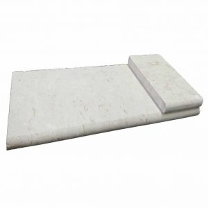 "Shell Beige 12""x24"" Bullnose Pool Coping 4 Shell Beige Bullnose Pool Coping product pic"
