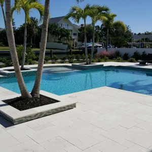 Shell Beige 53 Shell Beige French Pattern Paver Project Picture 1