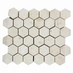 Shell Beige Hexagon Limestone Mosaic 2 Shell Beige Hexagon Limestone Mosaic Tile Product Pic