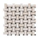 "Shell Beige 3""x6"" Subway Limestone Mosaic 1 shell beige basketweave limestone mosaic tile product pic"