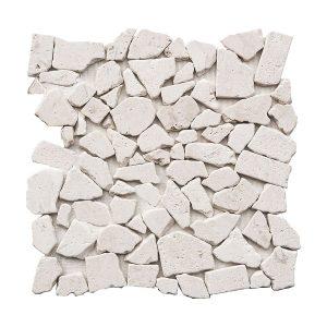 Shell Beige Pebble Limestone Mosaic 4 shell beige pebble limestone mosaic tile product pic
