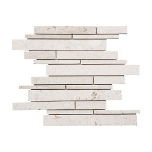 Shell Beige Strip Bar Limestone Mosaic 10 shell beige strip bar limestone mosaic tile product pic