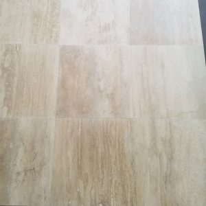 Ivory 52 24x24 Olympus Medium Veincut Honed and Filled Travertine Tile Product Closeby Pic