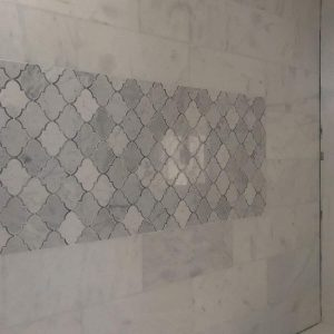 Bianco Ibiza 13 Bianco Ibiza 12x24 Marble Tile Bathroom Wall Design Pic