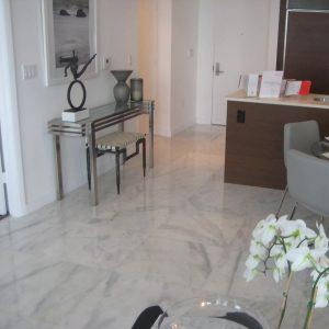 Bianco Ibiza 11 Bianco Ibiza 24x24 Marble Tile kitchen Project Jobside pic