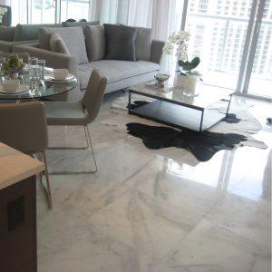 Bianco Ibiza 10 Bianco Ibiza 24x24 Marble Tile living room Project Jobside pic