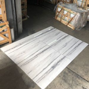 Bianco Vena 5 Bianco Vena 12x24 Marble Tile closeby from crates Pic
