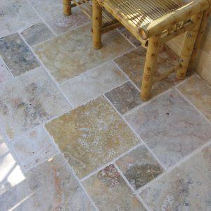Home 22 Country Classic Travertine French Pattern Tile Jobside Pic