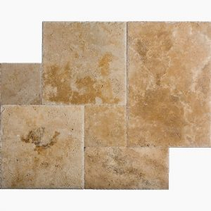Country Classic French Pattern Travertine Tile 3 French Pattern Country Classic Brushed Travertine Tile