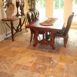 Gold 21 Gold French Pattern Travertine Tile Floor Indoor Design Project Pic