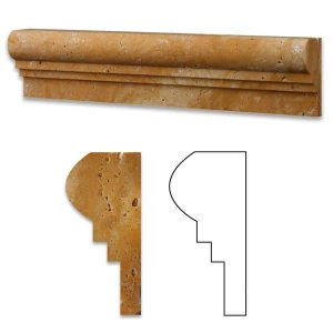 Gold Double Ogee Travertine Molding 18 Gold Travertine Double Ogee Product Pic