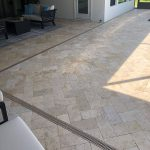 Ivory-6×12-Travertine-Paver-Poolside-Outside-Project-pic
