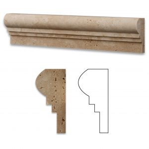 Ivory Double Ogee Travertine Molding 4 Ivory Double Ogee Product Pic