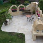 Ivory-French-Pattern-Barbecue-Area-Design-Pic