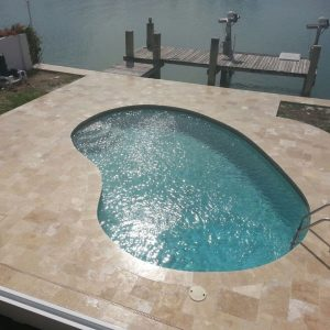 Ivory 33 Ivory French Pattern Paver Seaside Pool Design Pic