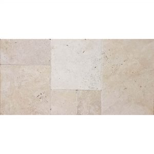 Ivory French Pattern Travertine Tile 4 Ivory French Pattern Tile Product Pic