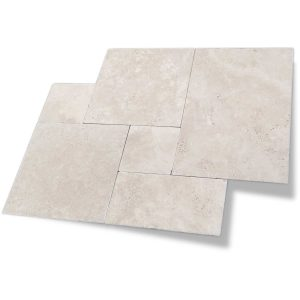 Ivory French Pattern Travertine Paver 10 Ivory French pattern Paver Product Pic