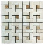 Ivory Noche Mix Pinwheel Travertine Mosaic 1 Ivory Noche Mix Pinwheel Travertine Mosaic Tile Product Pic