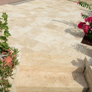 Ivory 62 Ivory Patio French Pattern Paver Design Pic