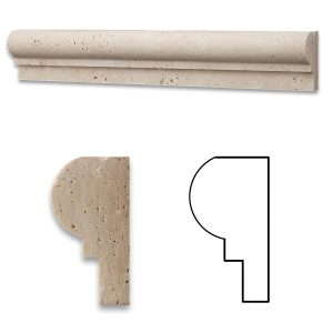 Ivory Single Ogee Travertine Molding 5 Ivory Single Ogee Product Pic