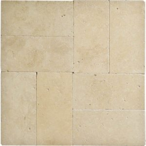 "Ivory 6""x12"" Travertine Paver 6 Ivory Travertine 6x12 paver Product Pic"