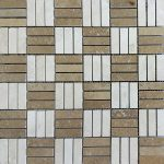 Ivory Noche Mix Tri-Strip Travertine Mosaic 2 Ivory noche Travertine Mix Tumbled Mosaic Product Pic