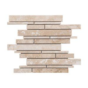 Ivory Strip Bar Travertine Mosaic 20 Ivory strip bar travertine mosaic tile Product Pic
