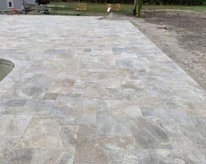 Kashmir 3 Kashmir Travertine French Pattern Paver Outdoor Floor Pic