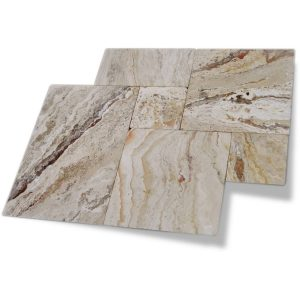 Leonardo French Pattern Travertine Paver 16 Leonardo Travertine Paver French Pattern Product pic