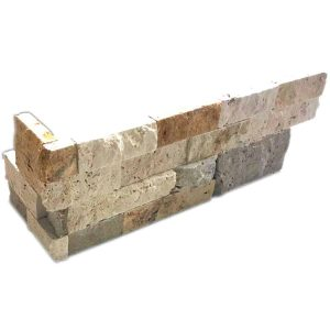 Mix Splitface Ledger Corner 10 Mix Travertine Splitface Ledger Corner Product Pic