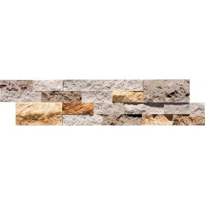 Mix Splitface Ledger Panel 6 Mix Travertine Splitface Ledger Panel Product Pic