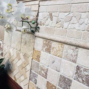 Mix Travertine 18 Mix Travertine Wall Design Project Pic