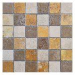 """Mix 1""""x2"""" Travertine Mosaic 1 Mixed 2x2 Travertine Mosaic Product Pic"""