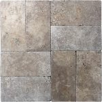Noche French Pattern Travertine Tile 1 Noche 6x12 Travertine Paver Product Pic