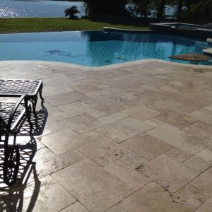 Noche 23 Noche French Pattern Paver Poolside Project Pic