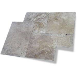 Noche French Pattern Travertine Paver 6 Noche Travertine French Pattern Paver Product Pic