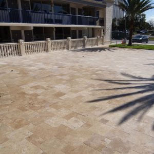 Noche 27 Noche Travertine french pattern Paver Outdoor hotel Pic