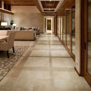 Ivory 53 Olympus Light Travertine Tile Hotel Project Floor Project Pic