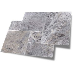 Silver French Pattern Travertine Paver 7 Silver French Pattern Travertine Paver product Pic