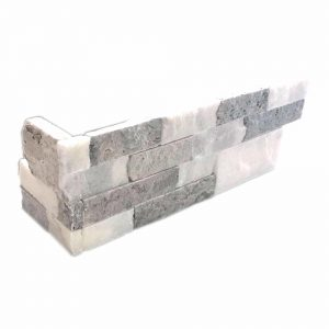 Silver Ice Mix Splitface Ledger Corner 16 Silver Ice Splitface ledger panel Corner Product Pic