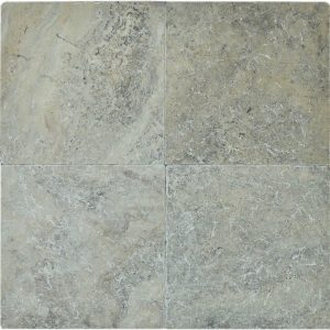"Silver 16""x16"" Travertine Paver 3 Silver Travertine Paver 16x16 Product Pic"