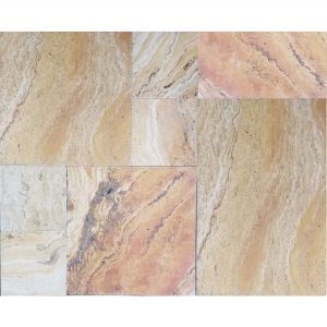 Autumn Blend French Pattern Travertine Tile 2 Valencia French Pattern Tile Closeby Product Pic