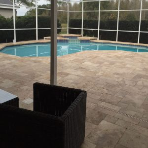 Walnut 11 Walnut French Pattern Paver Pool Area Jobside Picture