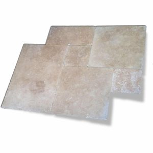 Walnut French Pattern Travertine Paver 6 Walnut French Pattern Paver Product Pic