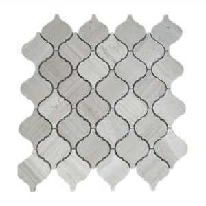 White Wood Arabesque Limestone Mosaic 6 White Wood Arabesque Limestone Mosaic Tile Product Pic
